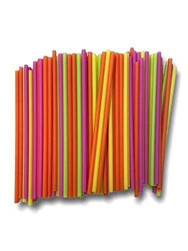 ZERAY 500 Jumbo Neon Strohhalme aus Kunststoff.Länge.Trinkhalme Plastik. Strohhalme Plastik.strohhalm Plastik.strohhalme Plastik.Plastik strohhalme. (500)