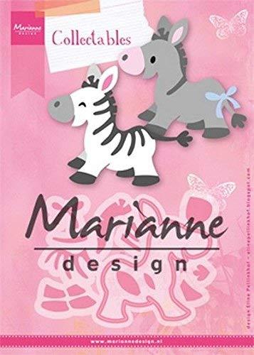 Marianne Design Zebra and Donkey collectables Plantillas de Corte, eline's Cebra y Burro, para diseños intrincados y Detalles en Relieve en Manualidades en Papel, Metal, Rosa, 150x210