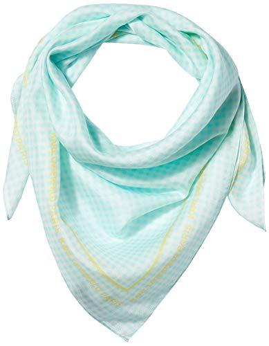 Karl Lagerfeld Paris Damen Map Square Silk and Cotton Scarf Schal für kaltes Wetter, Periwinkle, Einheitsgröße