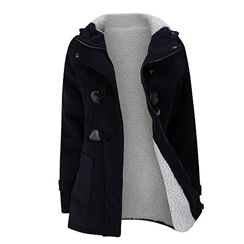 FRAUIT Winterjacke Damen Wollmantel Hoodie Mantel Jacke Lange Windjacke Kleidung Damen Mode Elegant Wunderschön Multifunktional Warm Bequem Atmungsaktiv Kleidung Bluse Tops M-4XL