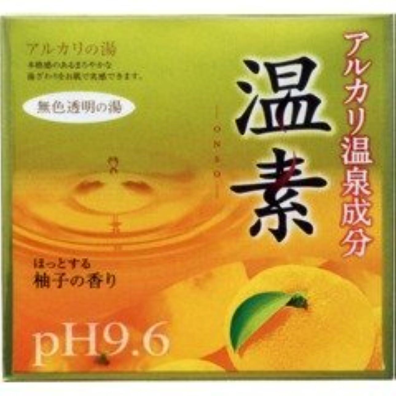 配管大声で怒り【アース製薬】温素 柚子の香り 30g×15包 ×3個セット