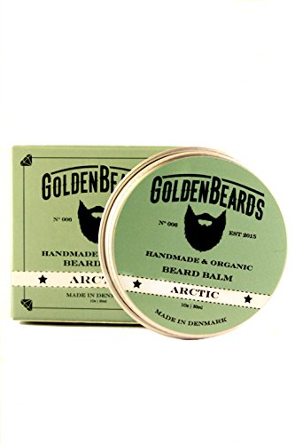 Baume biologique pour barbe Arctic | 30ml 100% naturel Golden Beards | Huile de jojoba, d'argan, d'abricot, menthe poivre, orange et arbre & agrave; Hydratez votre barbe et votre peau.