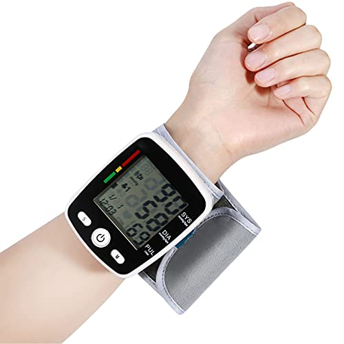 HONGER Wrist Blood Pressure Monitor, Blood Pressure Measuring Device, with Large LCD Display Measure Blood Pressure and Heart Rate for Home Use