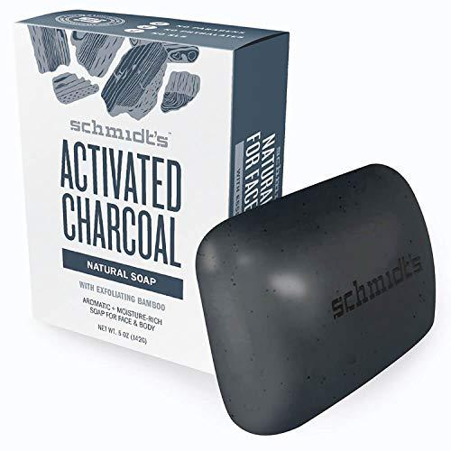 Schmidt's natuurlijke zeep (voor lichaam en gezicht geactiveerde houtskool met actieve kool), 1 stuk (1 x 142 g)
