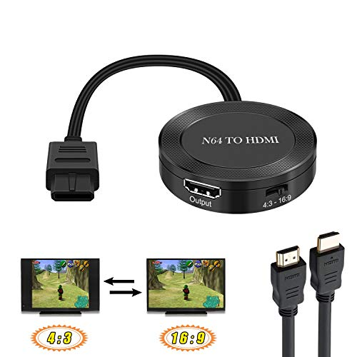 N64 to HDMI N64 HDMI Converter N64 Cable to HDMI Support 16:9/4:3 Convert N64 to HDMI Adapter & N64 Converter