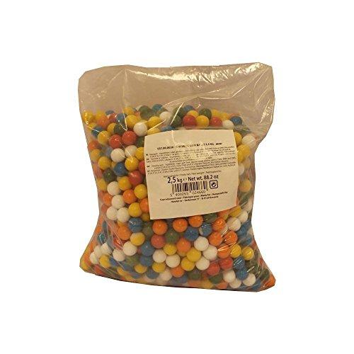 Billes de chewing gum dragéifiées sachet de 2,5 kg T 14mm