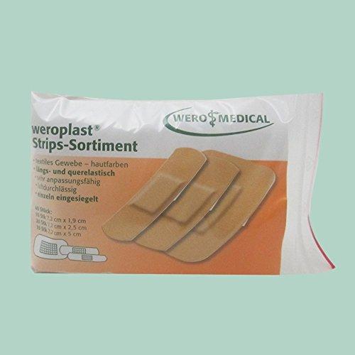 Pflasterstrips weroplast Strips-Sortiment (40 Stk/Pkg)
