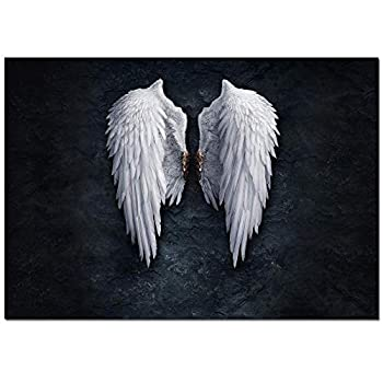 Fire Ice Angel Wings Contemporary Girl Abstract Canvas Wall Art Painting Living Room Wall Art Picture Gift Home Decoration Canvas Print Printed Paintings  28x40inch Wings …