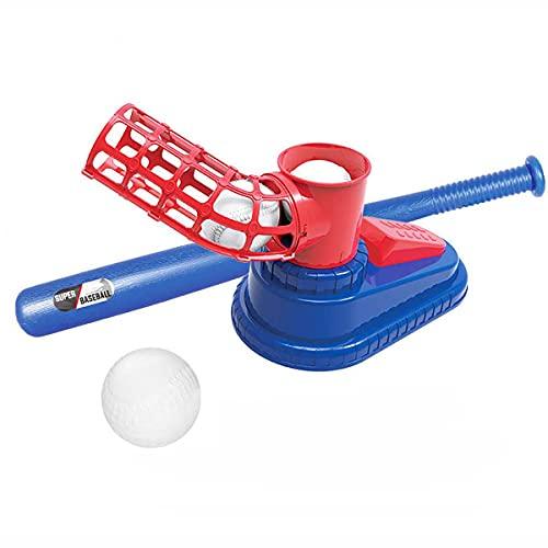 Máquina de béisbol automática Entrenador de Béisbol para Niños Juegos Deportivos de plástico portátiles Práctica de Captura de bateo de Pelota Tenis para niños Juguete al Aire Libre
