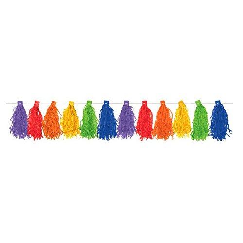 Amscan 220076-90-55 Hangdecoratie, draadslinger regenboog, ca. 3 m, kleurrijk