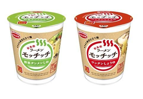 エースコック ラーメンモッチッチ 2種類各6食入り 1箱:12食入り (野菜タンメンしお/ワンタンしょうゆ