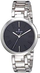 Titan Youth Analog Black Dial Women's Watch -NL2480SM02,Titan,NL2480SM02