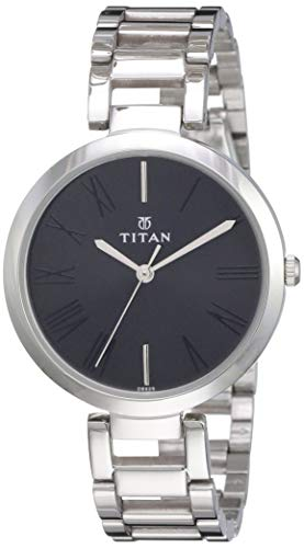 Titan Youth Analog Black Dial Women's Watch -NK2480SM02