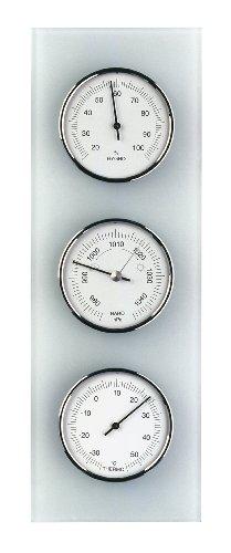 TFA Dostmann Analoge Wetterstation, aus Glas, Barometer, Therometer, Hygrometer