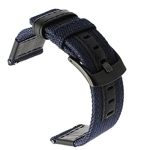 Reloj de bolsillo Canvas Nylon + Banda de reloj de cuero Compatible con J / EEP Diesel Fossil, Reloj Band Strap 20mm 22mm 24mm Men Reloj Correa Correa Correa de muñeca más larga Cinturón de reloj Relo