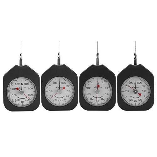 Belissy Reloj de medición de plástico Doble Tipo de puntero tensiómetro tensión Fuerza medidor analógico Tensión Fuerza