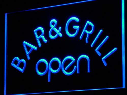 ADVPRO i815-b Bar & Grill Open Beer Cafe Neon Light Sign Barlicht Neonlicht Lichtwerbung