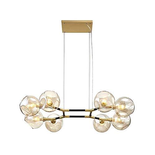 KK Timo Lámparas de araña nórdica, luz simple, de lujo, sala de estar, dormitorio, bar, luz molecular, creativa, para casa, mesa de comedor, comedor, lámpara de araña de 850 x 200 mm