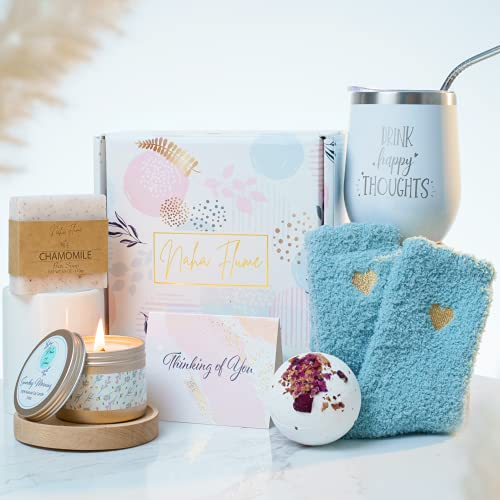 Birthday Gifts for Women - Relaxing Spa Box Basket Care Package for Her Best Friend Mom Female Sister Girlfriend Wife Unique Get Well Happy Birthday Presents Set Gift Idea for Women Who Has Everything