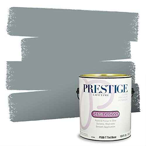 Prestige Paints Interior Paint and Primer In One, 1-Gallon, Semi-Gloss, Comparable Match of Benjamin Moore* Brewster Gray*
