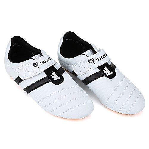 Scarpe Taekwondo, Arti Marziali Trainning Shoes Sneaker Boxe Karate Kung Fu Tai Chi Scarpe Stripes Sneakers per Uomo Donna Bambini Adolescenti Ragazzi Ragazze(39 Size Suitable for 235mm Foot Length)