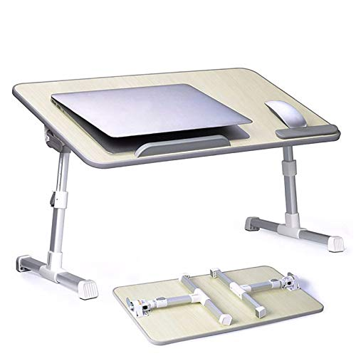 MFXI Laptop Stand for Bed,Adjustable Laptop Bed Table,Portable Standing Desk,Foldable Standing Desk,for Reading,Eating,Working On Bed/Sofa