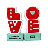 Pacific Giftware L.O.V.E Season Everything with Love Ceramic Magnetic Salt and Pepper Shaker Set