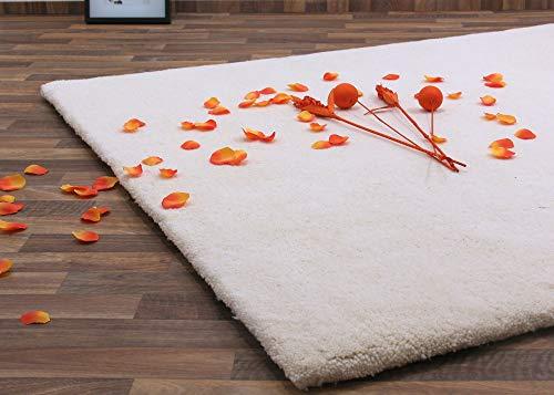 Berber Teppich natur aus 100% Schurwolle Casablanca 18/18 triple Wollweiss in 20 Größen, Größe:...