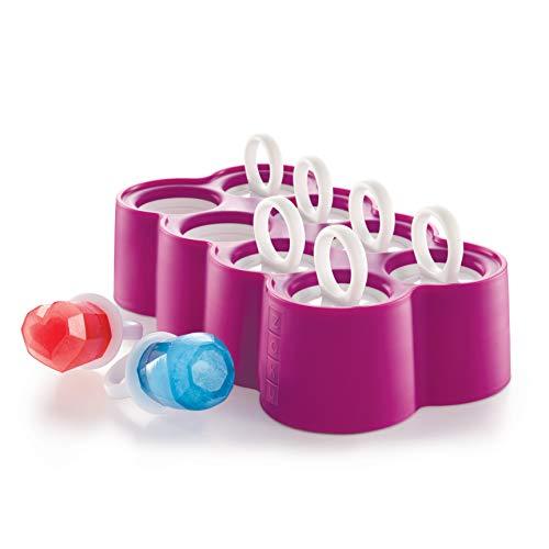 Pops Slide fuera de los moldes fácilmente directamente desde el congelador, no es necesario calentar el molde primera Reutilizable Pop palos tienen un diseño estriado que permiten pops para ceñirse de forma segura El juego incluye: Anillo Pop Mold, 8...