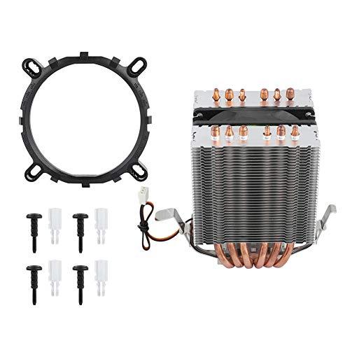 Ventiladores de CPU para Ordenador, Ventilador de refrigeración, disipador de Calor, 6 Tubos de Calor para Intel LGA 1156/1155/1150/775