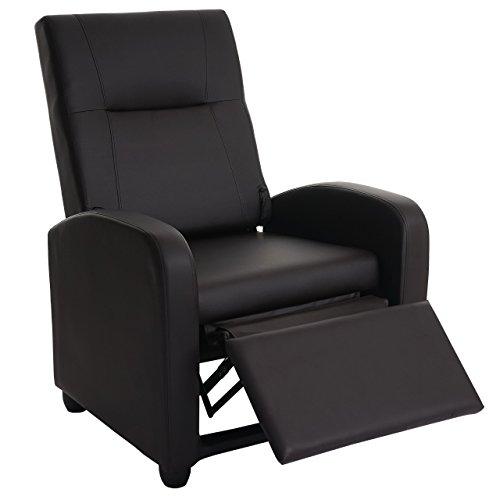 Mendler Fernsehsessel Denver Basic, Relaxsessel Relaxliege Sessel, Kunstleder ~ Coffee