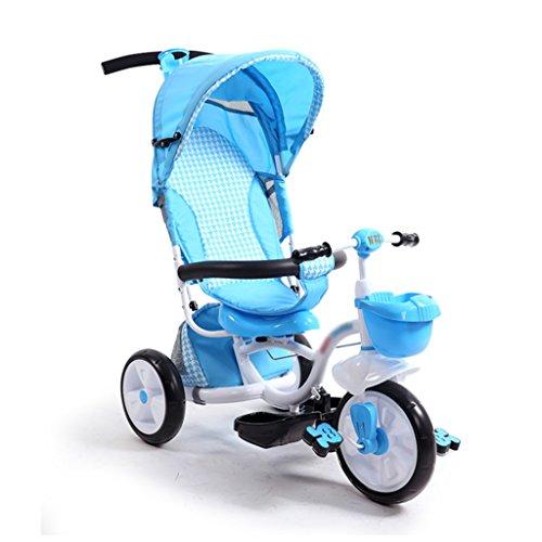 LYM Tricycle & Poussette Tricycle bébé, Tricycle avec pédale de Protection Trike Push Bike Easy Steer Tricycle Poussette Toy Car Mini Enfant Petit Tricycle ( Color : Bleu )