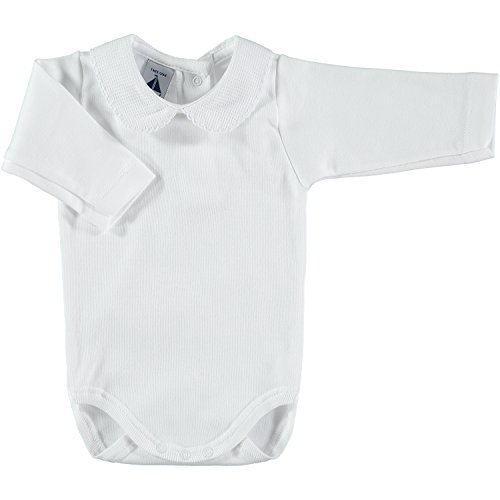 babidu Unisex Baby Body C.Polo Pique, Weiß, 6 Monate