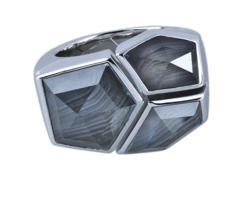 Joop Damen-Ring 925 Silber Zirkonia Rundschliff grau Gr. 51 (16.2) - JPRG90443B510