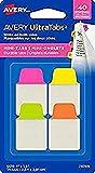 AVERY - Sachet de 40 mini marque-pages autocollants (Rose, Jaune, Orange, Vert), Format 25,4 mm