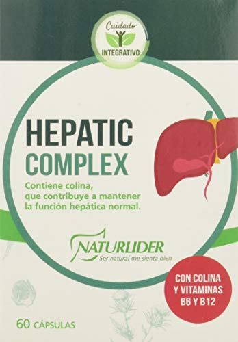 Naturlider Hepatic Complex con Colina, Alcachofa, Cardo Mariano y Cúrcuma - 60 Cápsulas