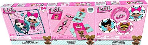 Spin Master Games L.O.L. Surprise 3er - Spiele - Bundle - Jumbo Kartenspiel, Puzzle, Domino