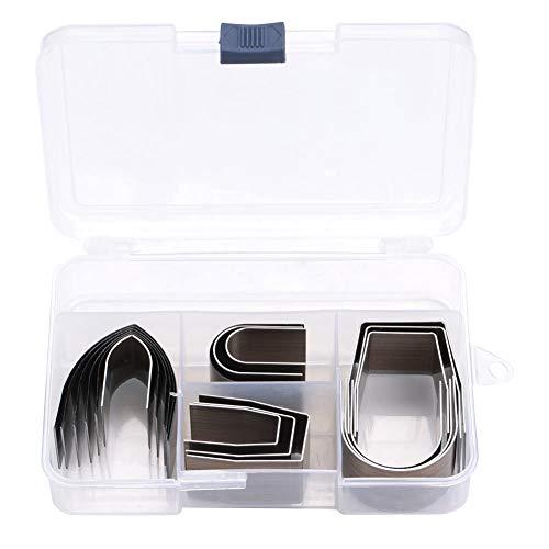 Kit completo di pressatura per coltelli vuoti in acciaio legato per lavori in pelle generale Strumento per punzonatura in pelle fai-da-te 18