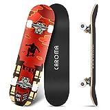 Skateboard für Anfänger,79cm×20cm Komplette Skate Boards,9...
