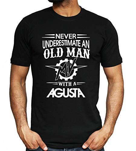 MV Agusta Mens T Shirt Old Man Biker Rider Gift Motorbike Motorcycle Dad Top Streetwear Fitness Printed Tee Shirt