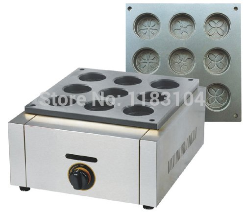 LPG Gas Mini Dorayaki Japanese Red Bean Pancake Maker Machine Baker Iron Mold