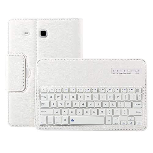 YEYOUCAI Accesorios para tabletas para Galaxy Tab E 9.6 / T560 2 en 1 Teclado Bluetooth Desmontable Funda de Cuero con Textura Litchi con Soporte