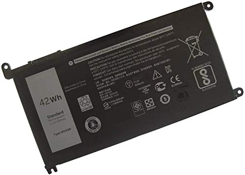 New WDX0R 3CRH3 T2JX4 FC92N CYMGM Laptop Battery 11.4V 42Wh compatible with Dell Inspiron 13 5368 5378 7368 7378 Inspiron 15 5565 5567 5568 5578 7560 7570 7579 7569 P58F