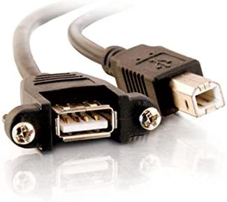 USB B to B Cable Cables to Go 28070 Black USB 2.0 Cable USB Panel Mount 6 Inches C2G USB Cable
