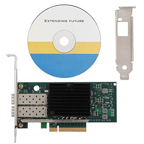 Diyeeni 10-Gigabit-Server-Glasfaser-10-Gbit/s-PCI-E-X8-Ethernet-Glasfaser-Adapterkarte mit Zwei Anschlüssen für PXE-Festplatten-Boot/ISCSI/FCOE/VLAN-Aggregation/Soft-Routing usw