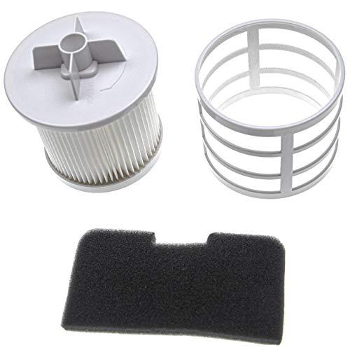 vhbw Set de filtros compatible con Hoover SE71_SE41011 39001372 aspirador - 2x filtro (filtro aire salida, filtro entrada del motor)