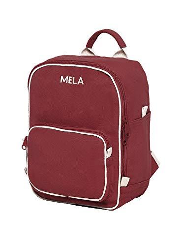 MELAWEAR MELA II mini Rucksack - Nachhaltig mit Fairtrade Cotton, GOTS und Grüner Knopf Zertifizierung, Farben MELA II:burgunderrot