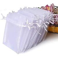 100-Pieces Hopttreely Premium Sheer Organza Bags