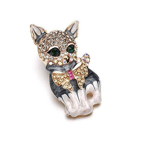 GAONAN Brooch Colorful Animal Shape Boutique Silver Kitten Brooch Women Girls Party Favors(Cat) Brooch decoration