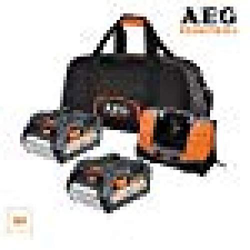 AEG SETLL1850BL snellader, meerdere platen, 18 V, Li-Ion, 2 accu's 5,0 Ah